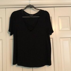 Topshop Lace-up Tee